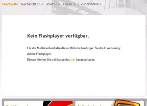 Die Alternative zum Flash fehlt